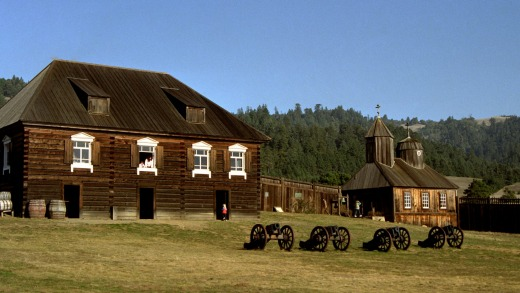 Historic fort Ross California is a former Russian fort.