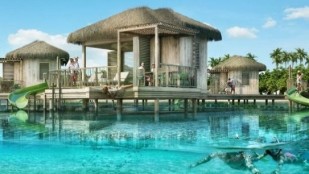 The new Coco Beach Club will offer the first overwater cabanas in The Bahamas.