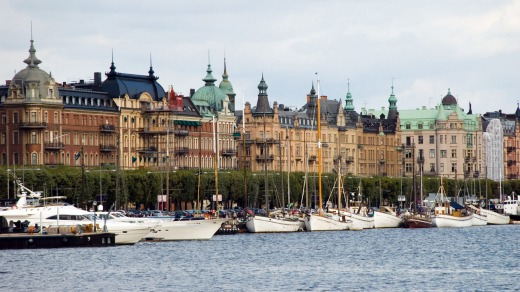 Yachts moored in Stockholm