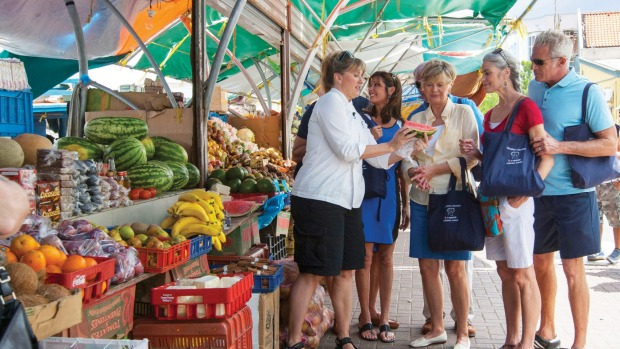 On a culinary tour of the Rialto market in Venice with Oceania Cruises.