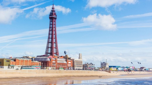 The Blackpool Tower, opened in 1894, was inspired by the Eiffel Tower in Paris. It stands at  158 metres.