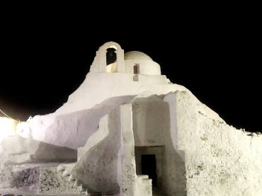 Paraportiani Church by night