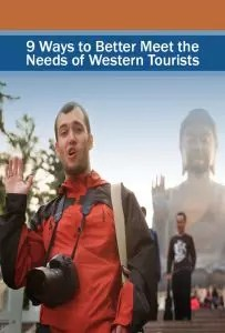 western tourists, this one creating a bad example of what not to do