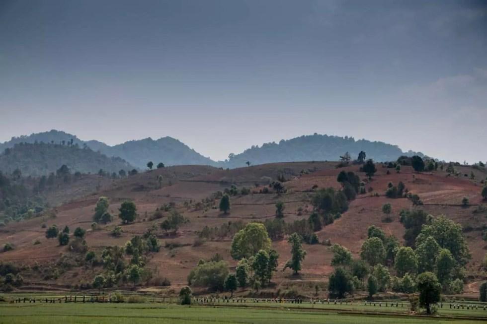 Beautiful village of Tongla,Myanmar
