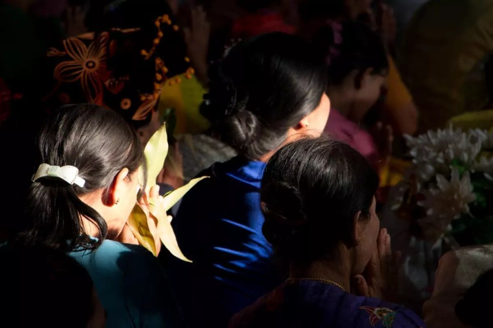 Ceremony at the temple,Myanmar