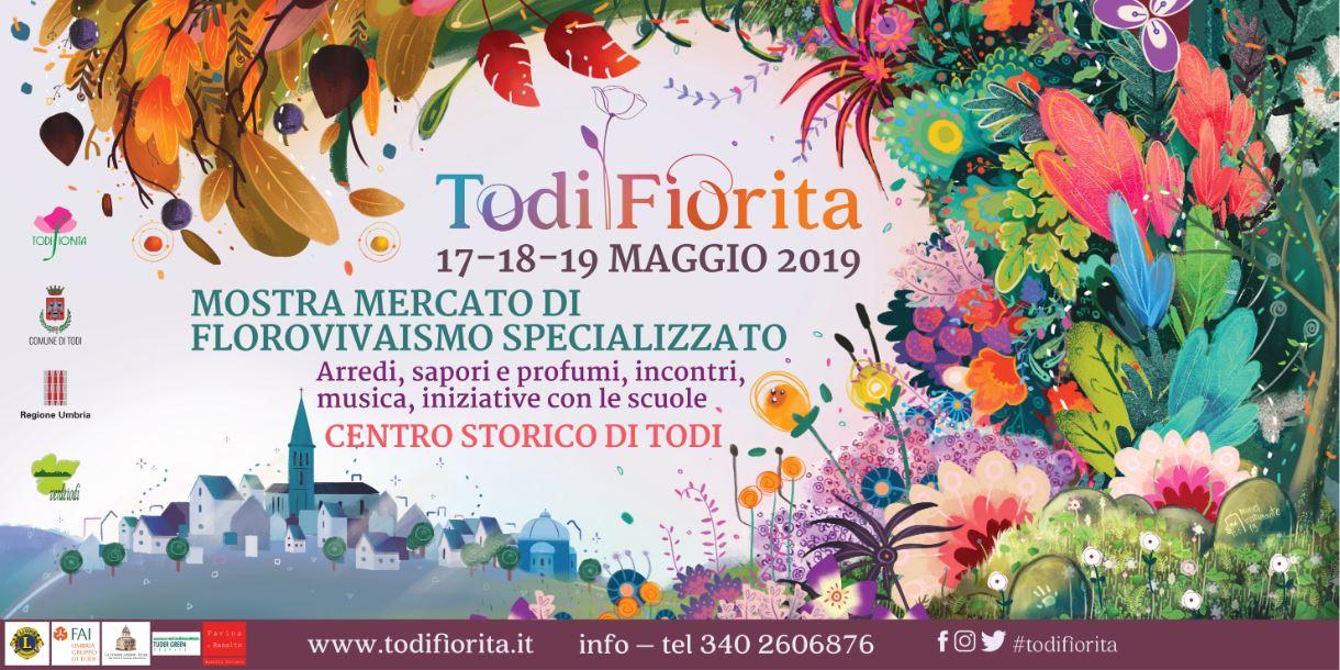 Todi Fiorita 2019: Al via la XII edizione della tradizionale Mostra Mercato del florovivaismo specializzato