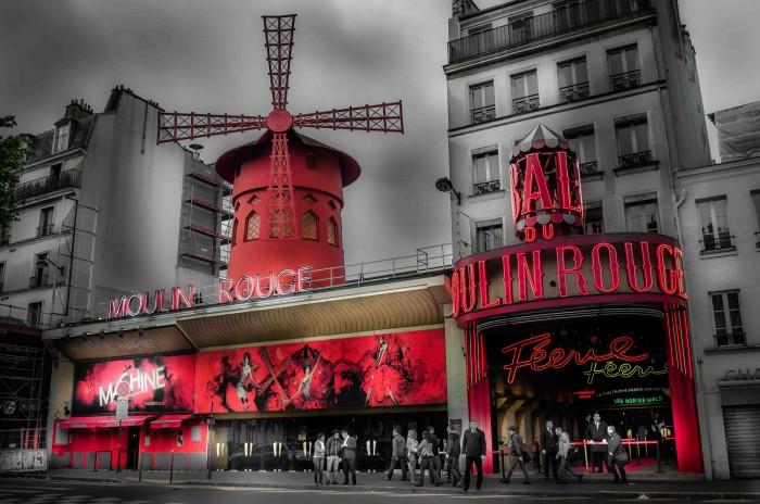 The Moulin Rouge in Paris Montmartre