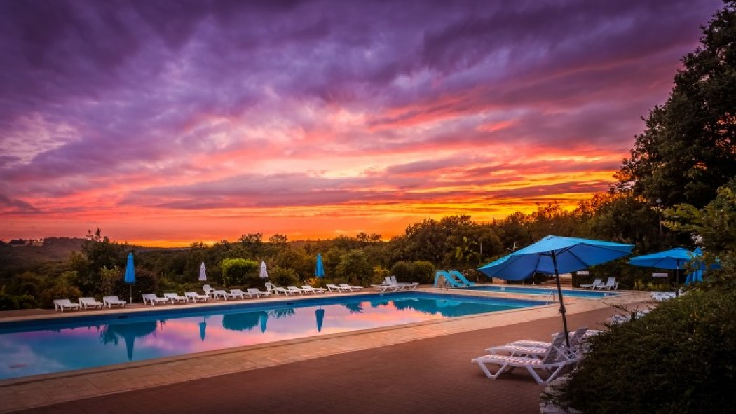 swimming, pool, sunset, france, southern, camping, view, amazing,