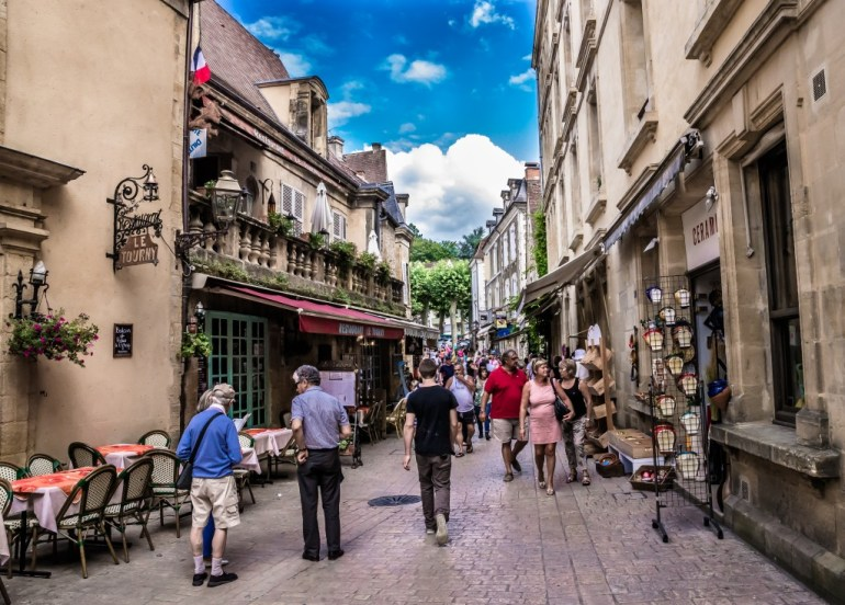 Side Streets of Sarlat, France
