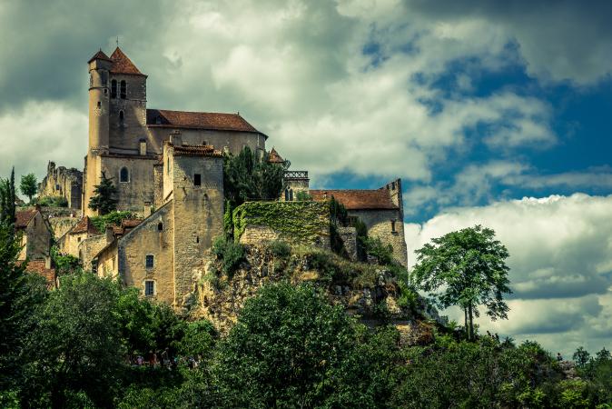 Cirq Lapopie in the Lot Region of France