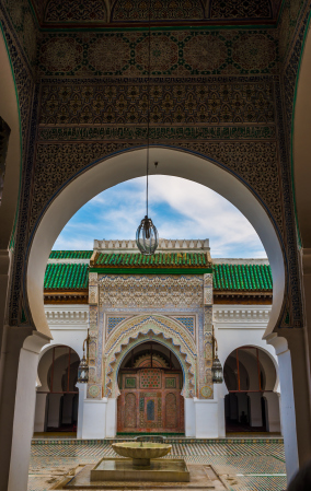 Entrance to the Kairaouine Mosque Fes