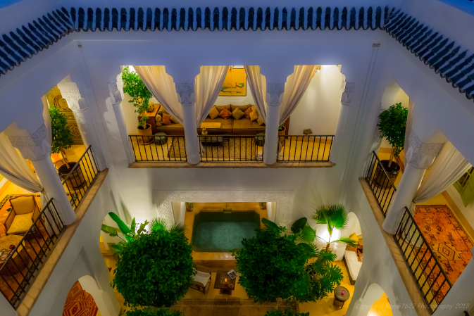 The courtyard at Riad Camilia, Marrakech, Morocco