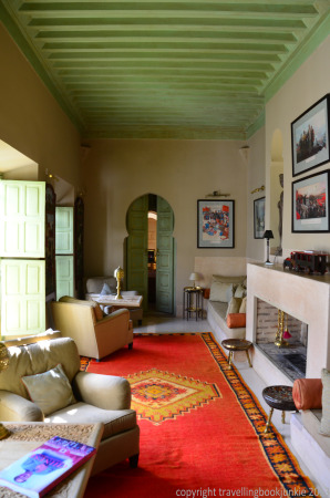 One of the living areas, suite 4, Riad camilia, Marrakech, Morocco
