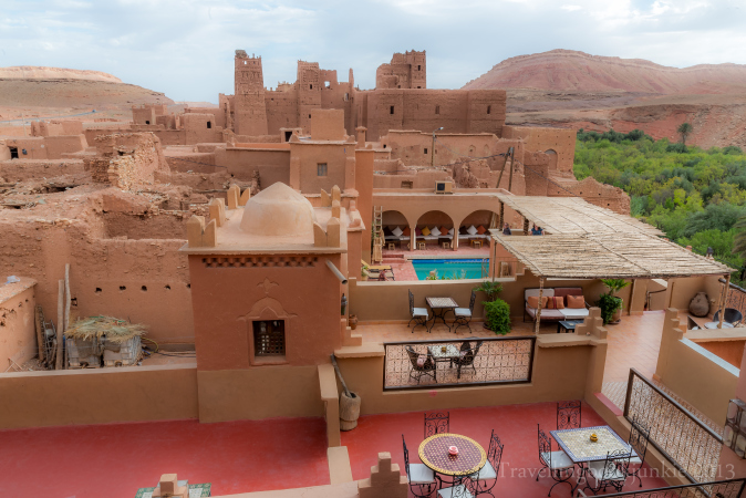 Views surrounding the Kasbah, Kasbah Ellouze, Morocco
