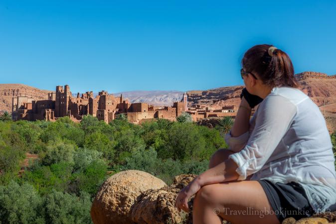 View towards Kasbah Ellouze, Morocco