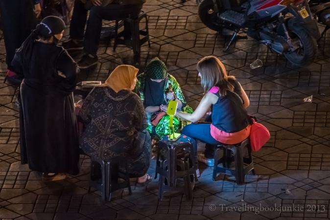 Henna Ladies, Marrakech Night Market, Morocco, Djemaa El Fna
