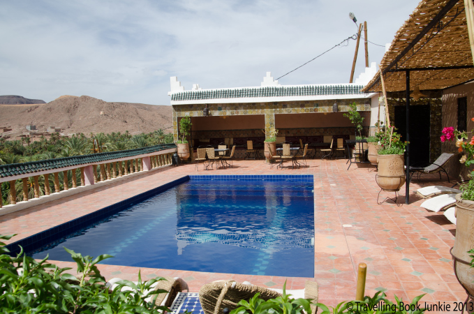 Pool where we stopped for lunch - so inviting, quad biking in morocco