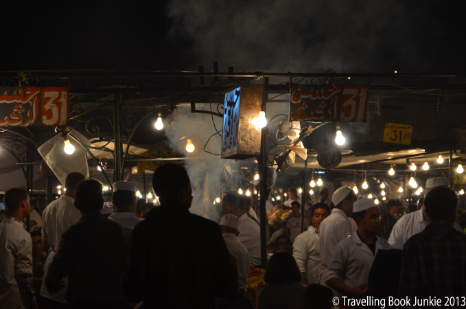 Food Stalls at Marrakech Night Market Morocco