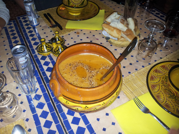 Dinner at Kasbah Ellouze, Morocco