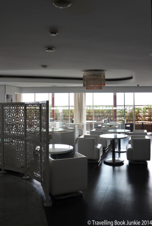 Luxury inside the sky bar where you could enjoy a nice meal, Renaissance Hotel, Marrakech, Morocco