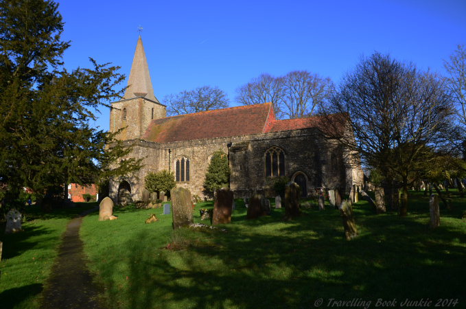 The Church next to the Black Horse Inn.  At least two ghosts have been sighted here. Pluckley Kent