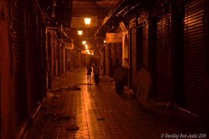Night time in the souks of Marrakech
