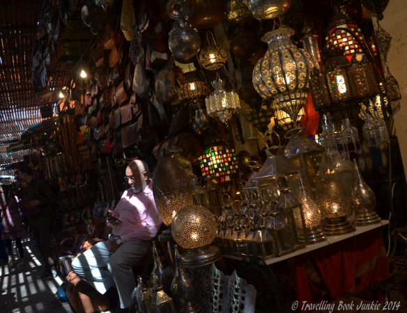 Lighting in the moroccan souks