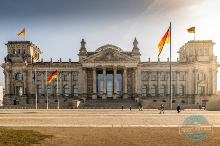 The-front-of-the-Reichstag-building-Berlin-Germany