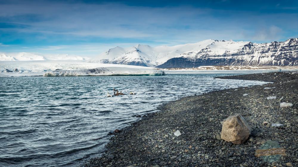 Jökulsárlón Outer edge Ice lagoon Iceland