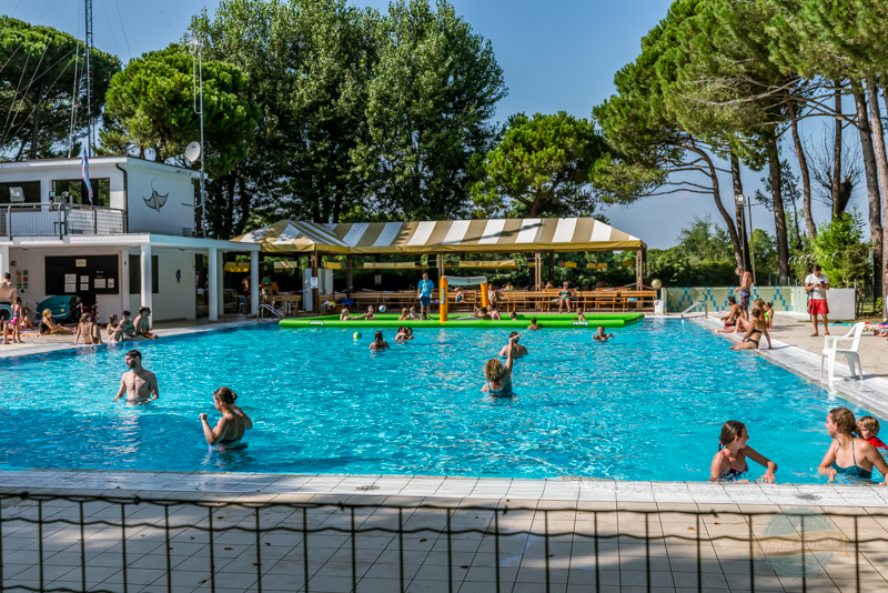 Second swimming pool at Camping Ca Savio, Venice, Italy