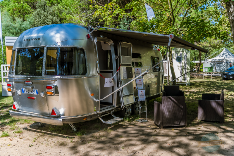 airstream at camping ca savio in Venice, italy