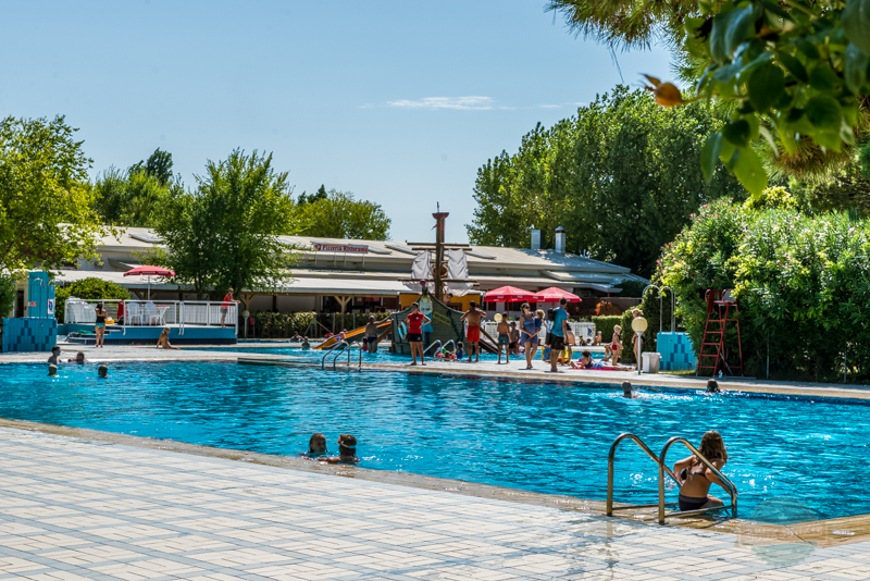 Swimming pool at Camping Ca Savio in Venice Italy