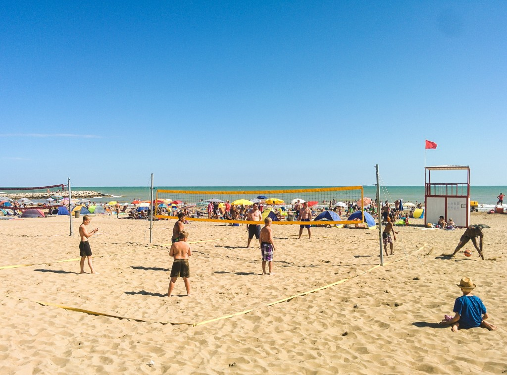 Camping Ca Savio beach, Venice, Italy