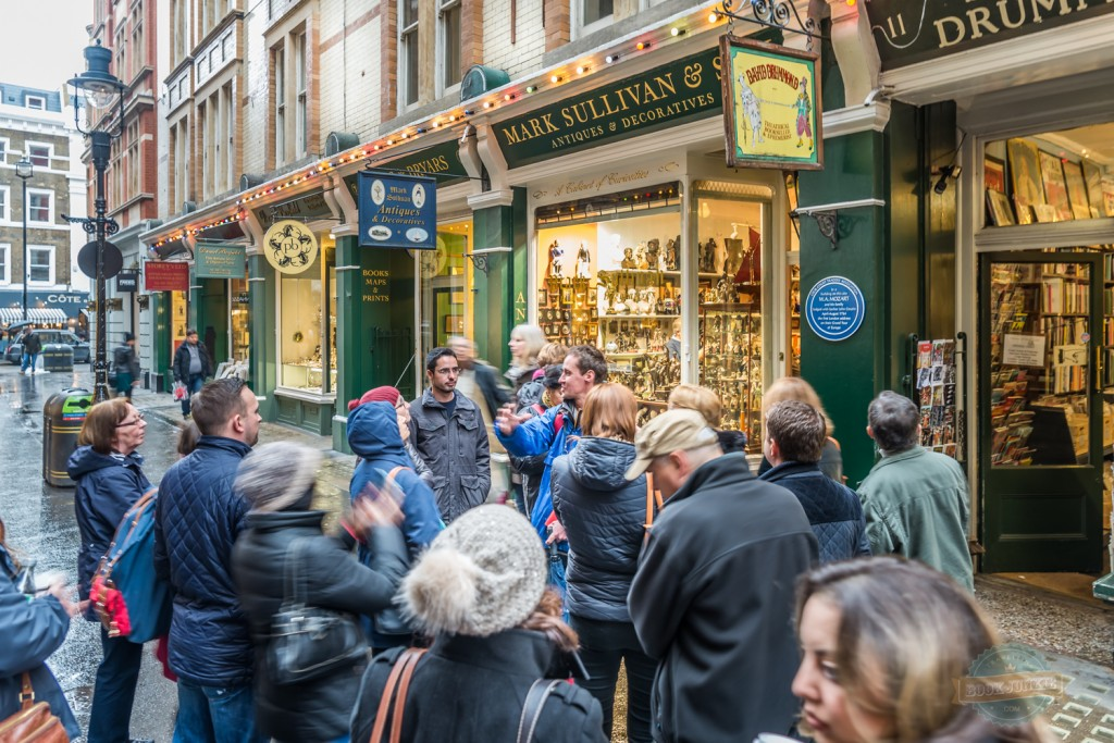 Cecil Court, London home to rare and first edition books, maps, and coins.  Famous residents include T.s Eillot and Mozart