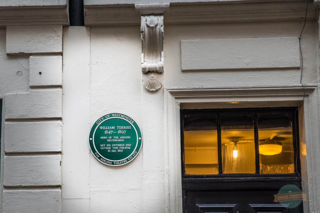 William terriss plaque in london by the theatre door