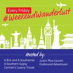 Weekend Wanderlust logo and link up
