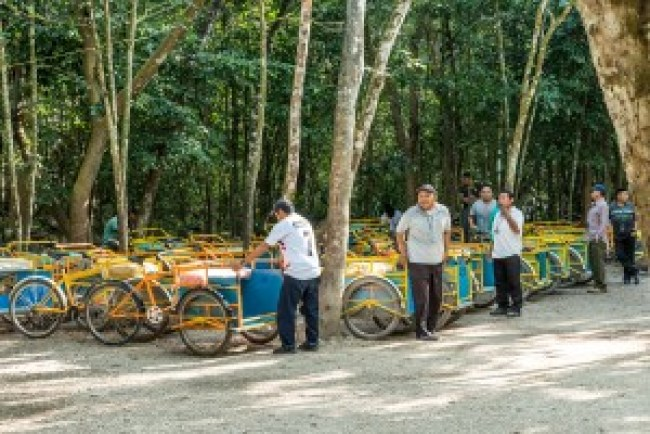 Bikes available for hire in Coba, Mexico