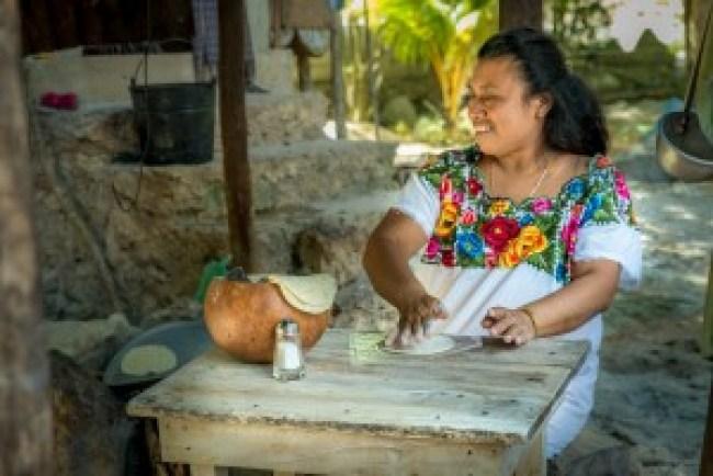 Visiting the Mayan Village in Coba, Mexico