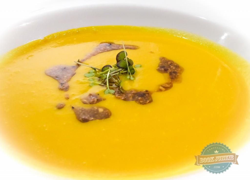 carrot and hazelnut soup at the Inspira santa marta Lisbon portugal