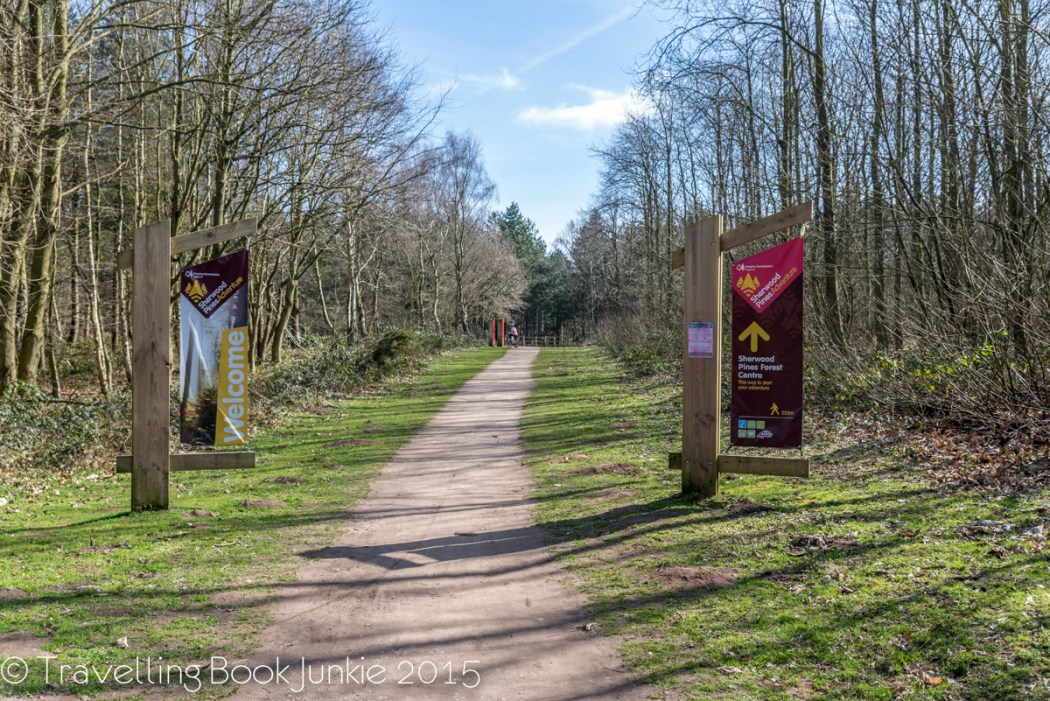 Walking and bike trail at Sherwood Forest Nottingham