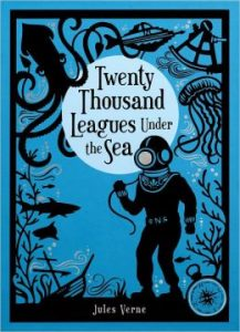 20,000 eagues under the sea; Jules VerneNovel; book, novelist, Sci-Fi, Captain Nemo