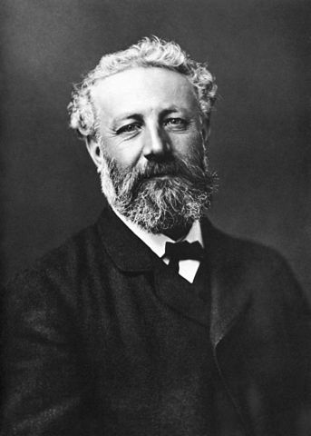 Jules Verne picture black and white portrait