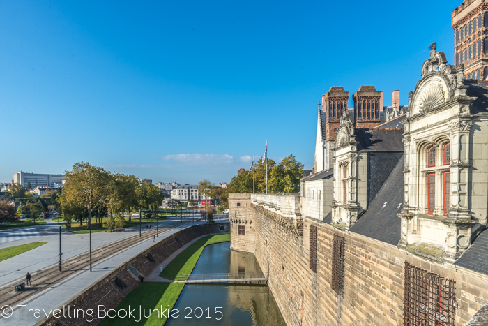Moat of Nantes Chateau, France.