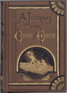 Journey to the centre of the earth by Jues Verne, jules verne author, novelist novel, book
