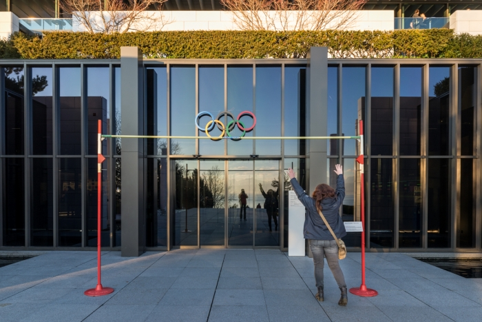 Olympic museum, Lausanne, Lake Leman, Lake Geneva, Lausanne, Switzerland