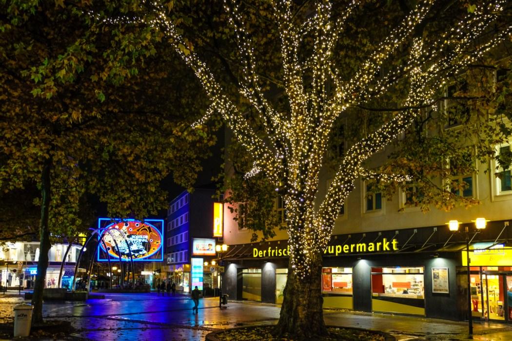 Festive lights, Essen, Germany