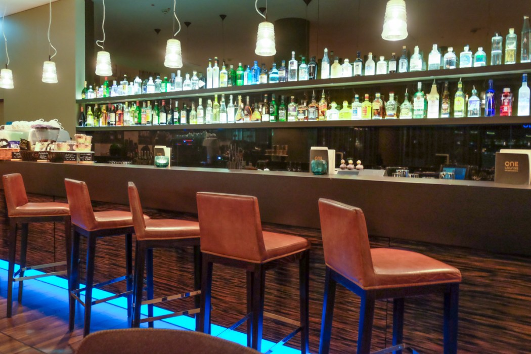 The bar area, Motel One, Essen, Germany