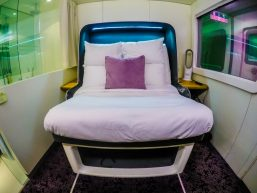 Storage, Premium Cabin, YotelAir, Yotel, Hotel, Accommodation, GAtwick, London