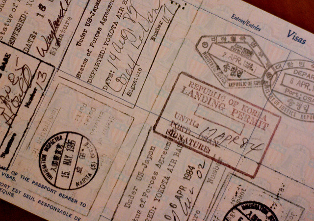 Visa application, visa stamps, passport, freedom of movement