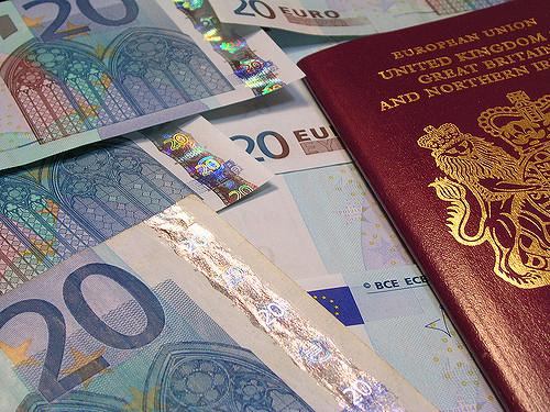 Visa application, British passport, euros, freedom of movement
